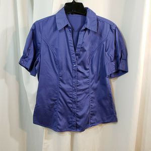 Limited L button shirt s/s career wear stretch blu